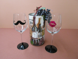 Wine cooler and glasses