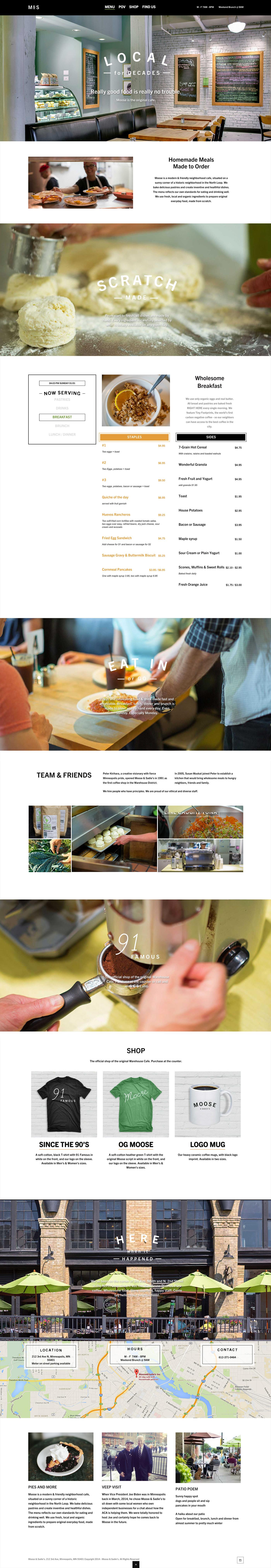 Full home page screenshot